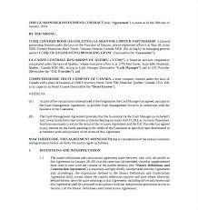 Business Investment Agreement Template Investor Management Form