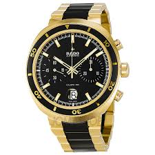 mens sport watches mens watches gold and black automatic yellow gold pvd and black ceramic mens watch r15967162