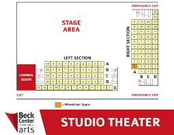 Seating Charts Beck Center For The Arts