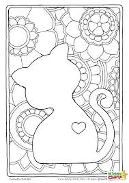 Mindfulness Colouring Sheets Pdf Cat Mindful Coloring Pages For