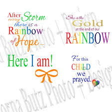 Instant Download Of Rainbow Baby Quotes Templates On Transparent Background For Photoshop Layers Babies Newborn Toddlers