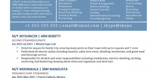 Cv Template Yacht Crew Resume Examples