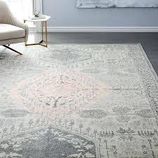captivating west elm area rugs distressed medallion rug platinum pink blush west elm regarding and gray