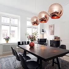 Diy Ceiling Lighting Modern DIY Rose Gold Ceiling Light Glass Ball Pendant Lamp Bulb Home Decor Diy Lighting