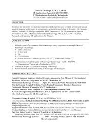 Medical Technology Example Example Cover Letter To Musc Magnetic Resonance Imaging Resume