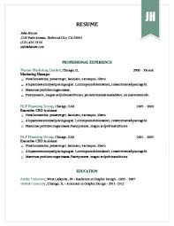 Modern Way To Present A Hardcopy Resume Simple Resume Templates 75 Examples Free Download
