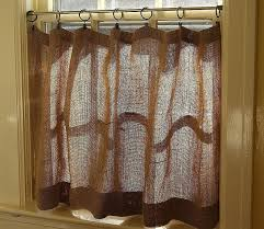 window curtain use shower for inspirational how to make burlap cafe curtains guest that match full