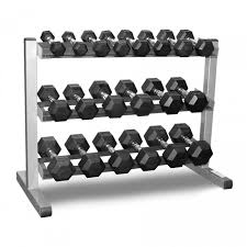Rubber Coated Hex Dumbbell Set With Rack Cool 322322kg Rubber Hexagonal Dumbbell Set With 32Tiers Dumbbell Rack