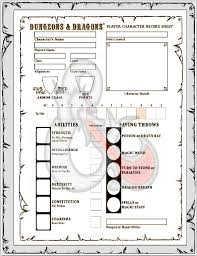 dungeons and dragons character sheet online gaming resources