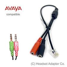 amazon com avaya headset adapter for pc headset 16xx and 96xx avaya headset adapter for pc headset 16xx and 96xx series