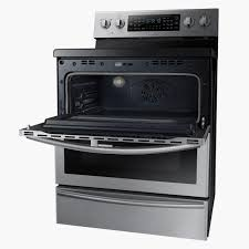 open oven in kitchen. coupled with a removable divider inside the oven, it allows you choice: bake two things in different compartments at temperatures open oven kitchen u