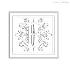decorative stencil letter f