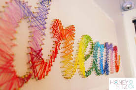 string wall art diy teen room decor projects see more at s