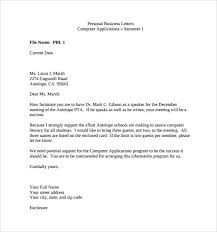 Personal Business Letter Examples Sample Personal Business Letter 9 Documents In Pdf Word