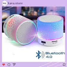 Loa Bluetooth Mini Đèn LED Đổi Màu nhấp nháy theo nhạc Kava Store - Loa  Bluetooth Nhãn hiệu No Brand