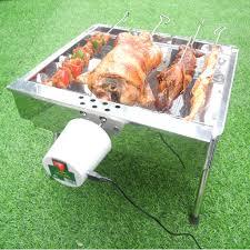 Bếp nướng than hoa V5S, quay tự động, dùng sạc dự phòng, lò quay vịt: Đa