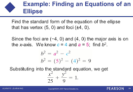 example finding an equations of an ellipse