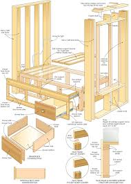 Built In Bed Plans Am Looking For Wood Project Make Wood Bed Frame Pdf Plans