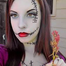 nightmare before party sally inspired makeup