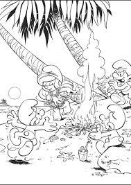 De Smurfen Op Het Strand Kleurplaten Diy Zappelin