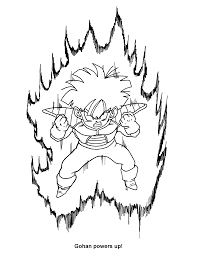 Dragon Ball Z 214 Cartoons Printable Coloring Pages