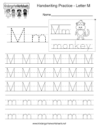 Writing Practice Worksheet Letter M Writing Practice Worksheet Free Kindergarten