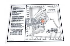Terex 4 1386 14 Decal Load Chart Eparts Plus
