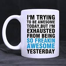 office coffee cups. Wonderful Office Iu0027m Trying To Be Awesome Funny Quotes Mugs Office Coffee Cups Inspirationa  Gifts For For M