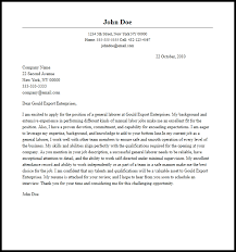 Professional General Laborer Cover Letter Sample Writing Guide