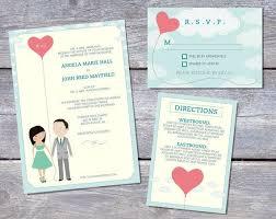 create free invitations online to print wedding invitation suite custom cartoon printable design loves