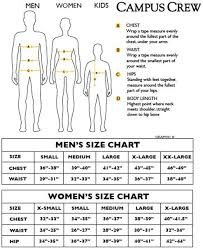 Campus Crew Size Chart Campus Crew Products Size Chart Appleby College Shop