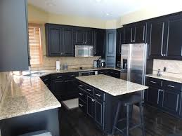 Dark Wood Kitchen Cabinets Dark Kitchen Cabinets With Light Granite Countertops Outofhome