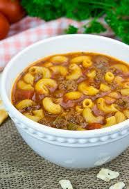 beef and tomato macaroni soup gonna