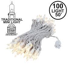 White Cord Lights Frosted White Christmas Mini Lights On White White Novelty