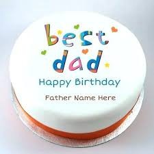 Birthday Wishes For Father With Cake Happy Birthday Wishes Cake For