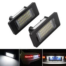 Bmw X5 License Plate Light Replacement Us 10 42 32 Off 1 Pair Led Car License Plate Light For Bmw X1 X5 X6 E39 E60 E61 E70 E71 E81 E82 E84 E90 E91 E92 E93 Led Auto Number Plate Lamps In