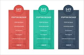 Pricing Template 11 Awesome Psd Pricing Table Templates Free Premium Templates