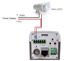 how to connect sensor to ip camera's alarm i o? technology news Q See Camera Wiring Diagram connect siren to ip camera q-see camera wiring diagram