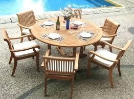 circular furniture. 7 Piece Patio Furniture Teak Circular Dining Set Aluminum