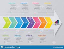 Modern Chart Design Modern 8 Steps Arrow Chart Design Element Eps10 Stock