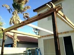 pergola attached to house roof building pergolas plans build p