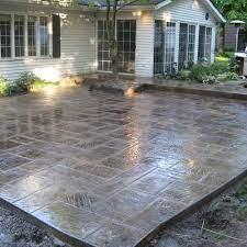 stamped concrete patio patio design
