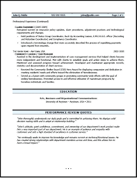 Insurance Claims Representative Sample Resume Interesting Claims Adjuster Resume Daxnetme