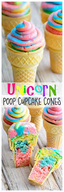 rainbow cupcakes in ice cream cones. Modren Cupcakes Unicorn Poop Cupcake Cones  Learn How To Make Rainbow Cupcake Cones  Perfect For School Parties Intended Rainbow Cupcakes In Ice Cream N
