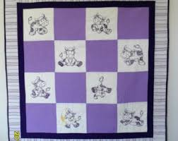 Baby Quilt Flannel Quilt Purple Baby Quilt Baby Girl & Purple Cow Baby Quilt, Baby Girl Quilt, Purple and White Quilt With  Embroidered Cows Adamdwight.com
