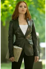 captain america 2016 natasha romanoff leather blazer