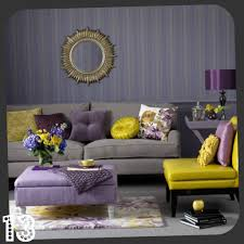 Purple Living Room Purple And Grey Front Room House Design Ideas