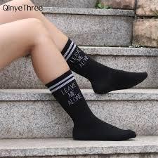 <b>Women</b> Soft Cotton Striped Printed socks Summer Modern Street ...