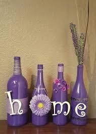 Decorative Wine Bottles Ideas Purple decorated wine bottles recycledwinebottles recycled wine 39