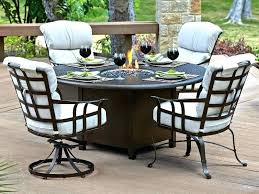 outdoor patio set with fire pit image of dining furniture extraordinary table round